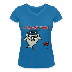 Nado le Requin for Girls - T-shirt bio col V Stanley & Stella Femme