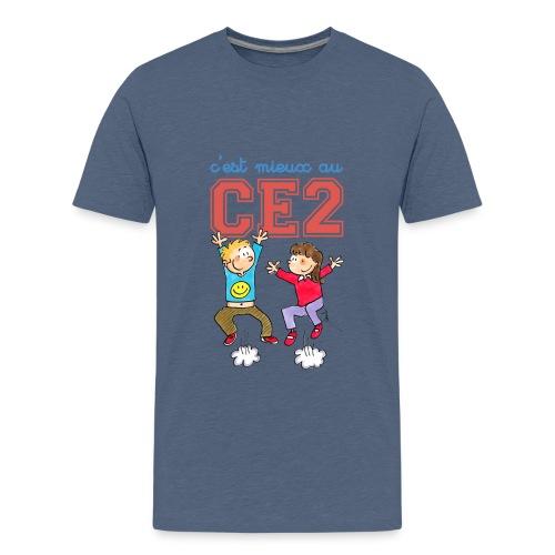 t shirt bio ado - c'est mieux au CE2 - T-shirt Premium Ado
