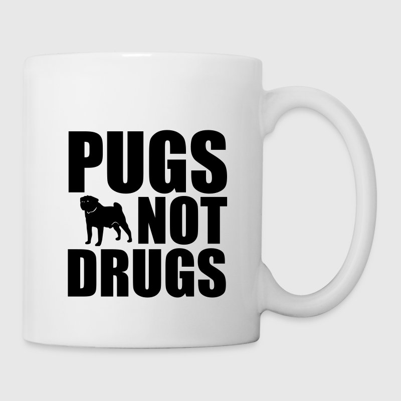 Pugs Not Drugs Flaschen & Tassen - Tasse