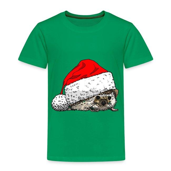 Cute Christmas Hedgehog Kid's Tee