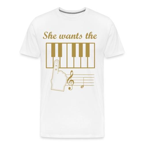 She wants the D T-Shirt - Männer Premium T-Shirt