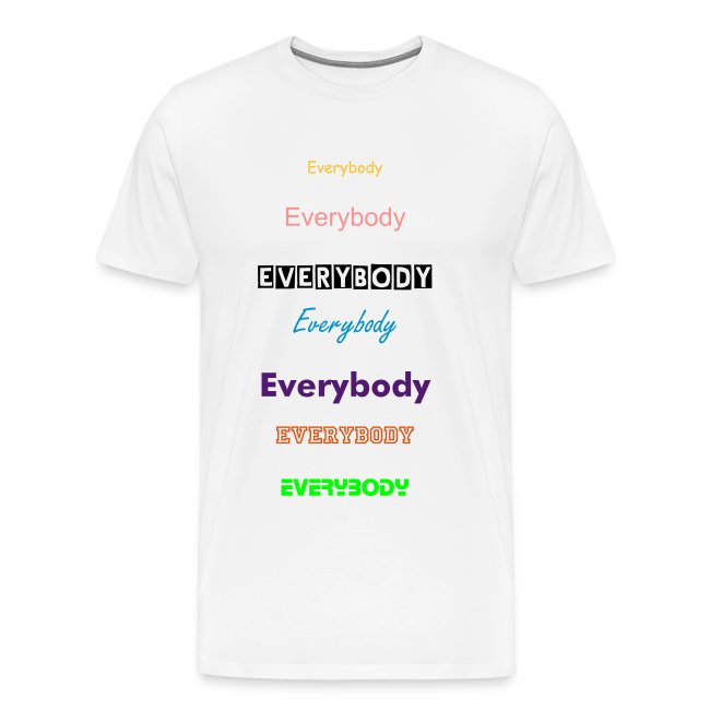 "T-shirt male ""Everybody"""