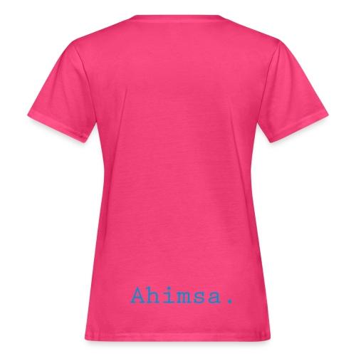 Organic Ahimsa Lumbar rose - Ekologisk T-shirt dam