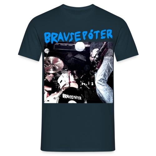 Brausepöter blaue Schrift - Männer T-Shirt