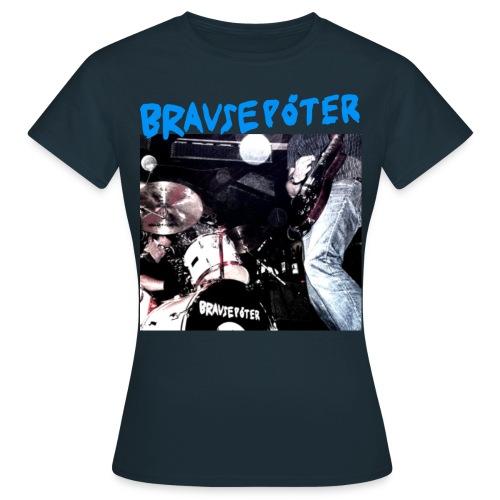 Brausepöter blaue Schrift - Frauen T-Shirt
