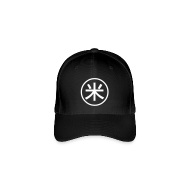 Caps & Hats ~ Flexfit Baseball Cap ~ Peko symbol black caps