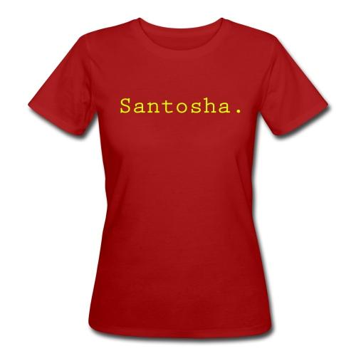 Organic Santosha purple - Ekologisk T-shirt dam