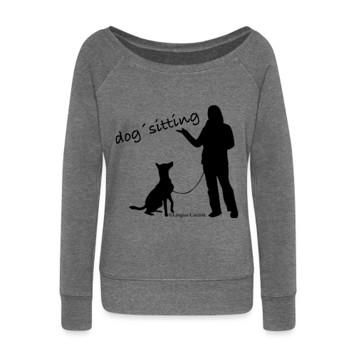 dog sitting - Pullover, Damen - Frauen Pullover mit U-Boot-Ausschnitt von Bella
