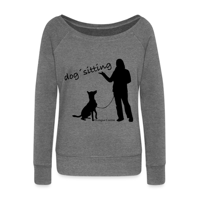 dog sitting - Pullover, Damen