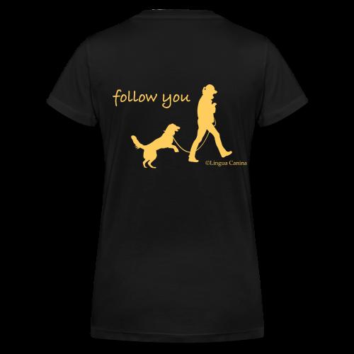 follow you - T-Shirt, Damen - Frauen Bio-T-Shirt mit V-Ausschnitt von Stanley & Stella