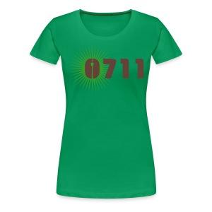 DAMEN-SHIRT 0711-STAR HELLGRÜN BRAUN - Frauen Premium T-Shirt