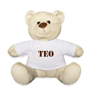 Teddy - This cute cuddly bear with button eyes and a small t-shirt is for both large and small cuddlers. The bear's fur has a light, soft-velvet feel under the t-shirt and the bear itself sits at a height of 20 cm (including ears). Highly recommended as a cuddly companion, best friend or bed buddy. 100% polyester.