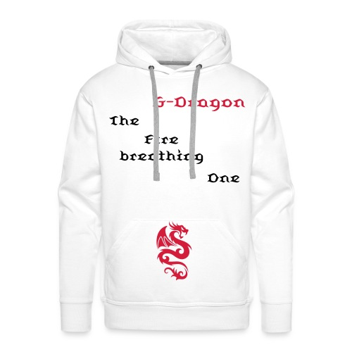 Hoodie male G-Dragon - The Fire breathing One - Men's Premium Hoodie