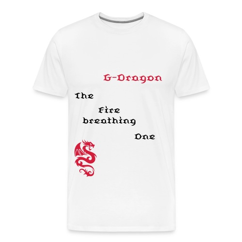 T-shirt male G-Dragon - The Fire breathing One - Men's Premium T-Shirt