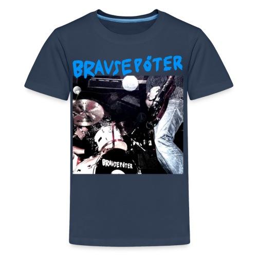 Brausepöter blaue Schrift - Teenager Premium T-Shirt