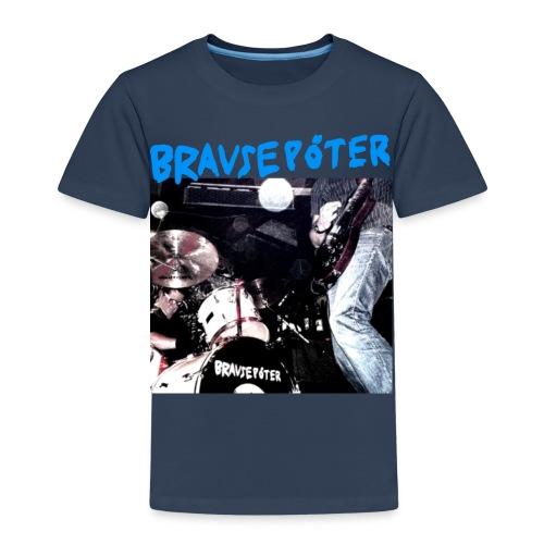 Brausepöter blaue Schrift - Kinder Premium T-Shirt