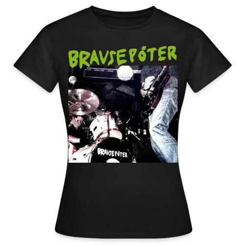 Brausepöter grüne Schrift - Frauen T-Shirt