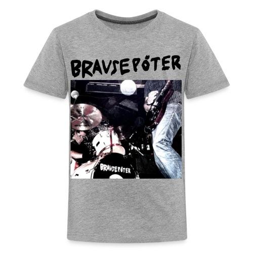 Brausepöter schwarze Schrift - Teenager Premium T-Shirt