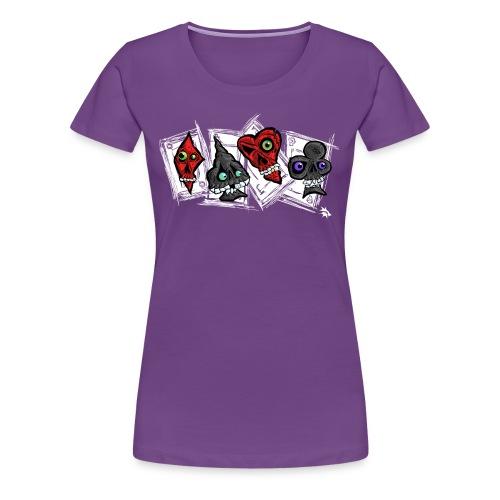 Poker Faces - Women's Premium T-Shirt
