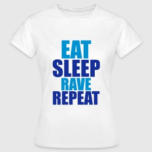 Eat Sleep Rave Repeat T-shirts - Dame-T-shirt