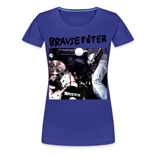 Brausepöter schwarze Schrift - Frauen Premium T-Shirt