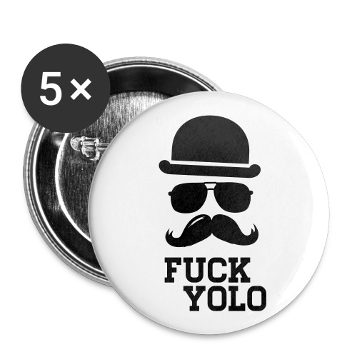 5x F*CK Y*LO Button - Buttons klein 25 mm