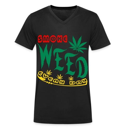 Smoke Weed Everyday  V-Ausschnitt - Männer Bio-T-Shirt mit V-Ausschnitt von Stanley & Stella