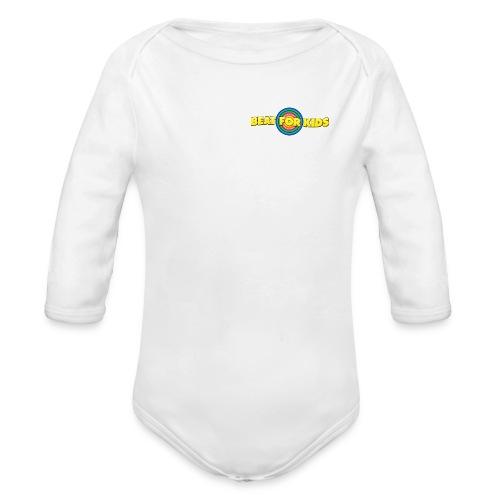 Kinder Body  Front Druck Weiß - Baby Bio-Langarm-Body