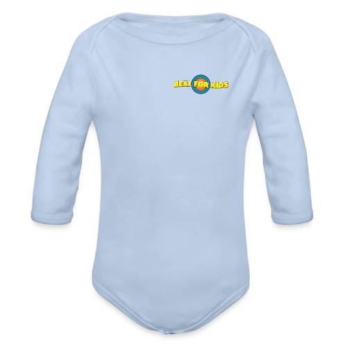 Kinder Body  Front Druck Schwarz - Baby Bio-Langarm-Body