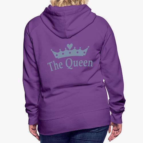 Hoodie - Queen Zilver - Vrouwen Premium hoodie
