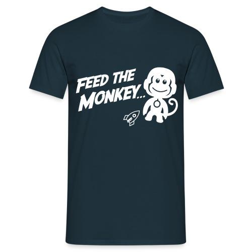 Feed The Monkey - Navy T - Men's T-Shirt