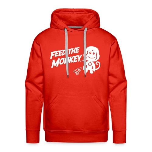 Feed The Monkey - Red Hoodie  - Men's Premium Hoodie