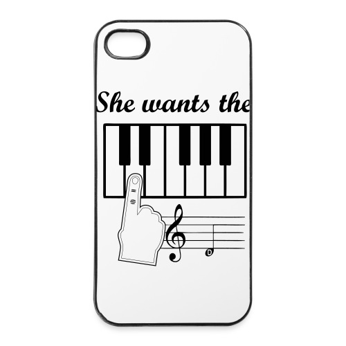 iPhone 4/4s Hard Case - She wants the D