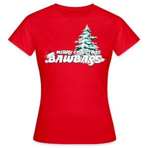 Merry Christmas Bawbags - Women's T-Shirt