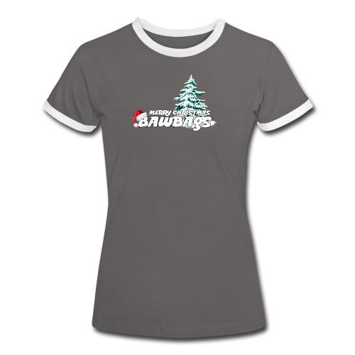 Merry Christmas Bawbags - Women's Ringer T-Shirt