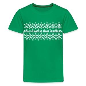 Bah Humbug - Teenage Premium T-Shirt