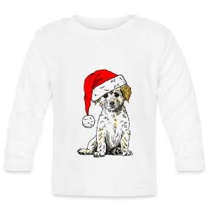 Christmas Doggy Toddler's Tee - Baby Long Sleeve T-Shirt