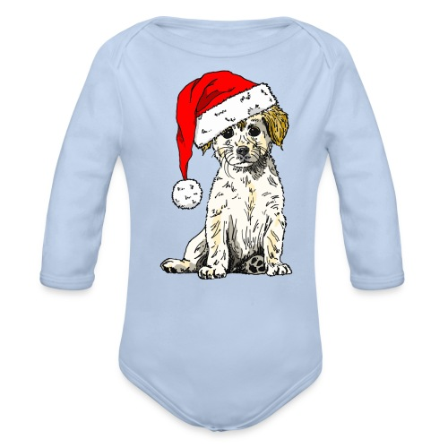 Christmas Doggy Creeper - Organic Longsleeve Baby Bodysuit