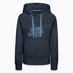 a decorated Indian elephant Hoodies & Sweatshirts