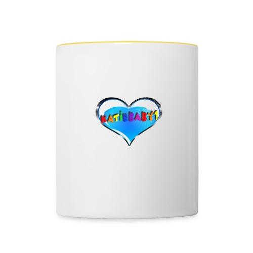 katiebaby1 heart cup - Contrasting Mug