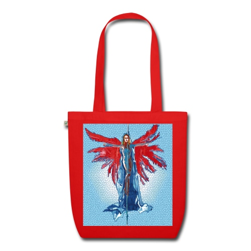 Tote bag pole-dance crucifix red - Sac en tissu biologique