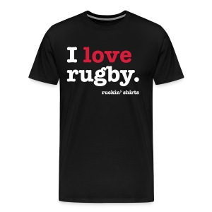 I Love Rugby - Men's Premium T-Shirt