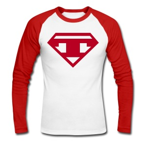 Baseballshirt LS - Red T - Men's Long Sleeve Baseball T-Shirt