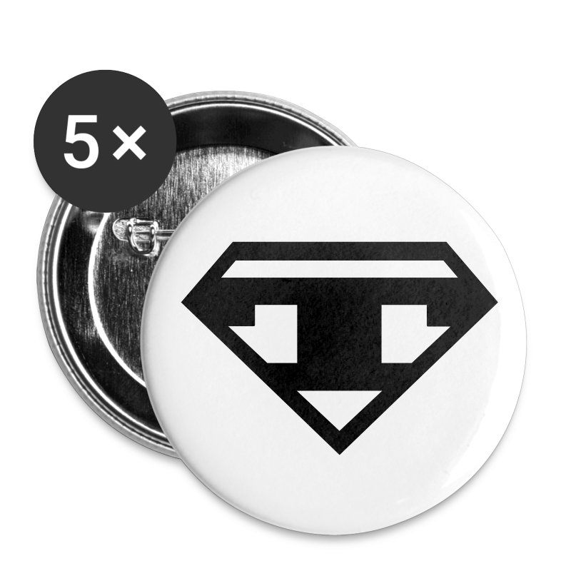 Twanneman Buttons 56mm-  5pack - Black T - Buttons large 56 mm