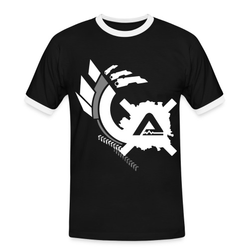 White Logo Claws Retro TS Man - Men's Ringer Shirt