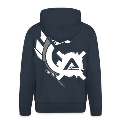White Logo Claws LSC Man - Men's Premium Hooded Jacket