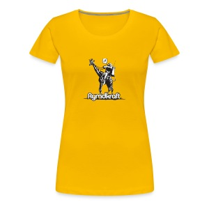 Rymdkraft Happy Astronaut Girlie Tee - Women's Premium T-Shirt