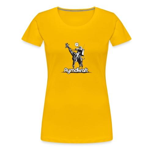 Rymdkraft Happy Astronaut Girlie Tee - Women's Premium T-Shirt