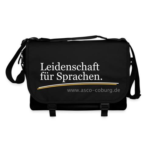 Messenger Bag Leidenschaft für Sprachen black - Umhängetasche