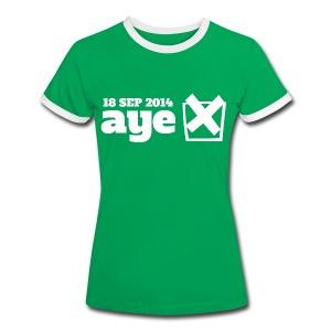 Vote Aye - Women's Ringer T-Shirt